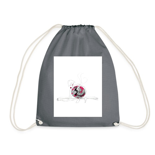 red lady - Drawstring Bag