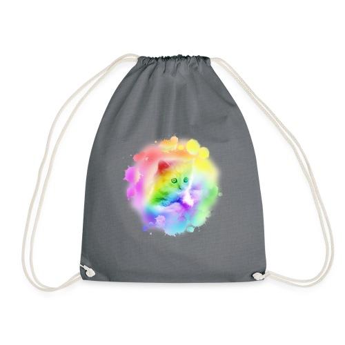 Rainbow Kitty - Drawstring Bag