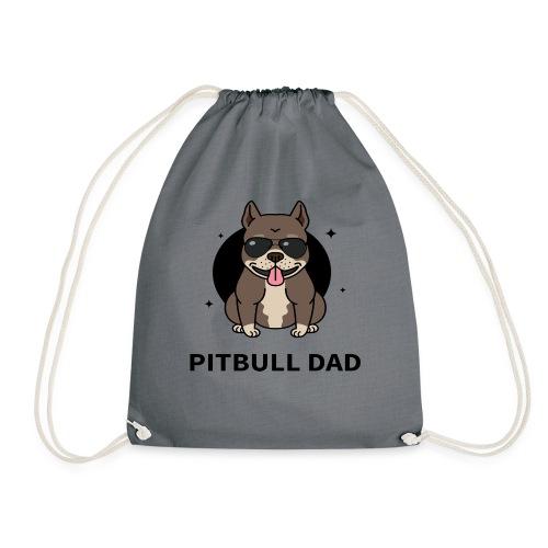 pitbull papa,dad,humour,chien,dog,animal,cadeau - Sac de sport léger