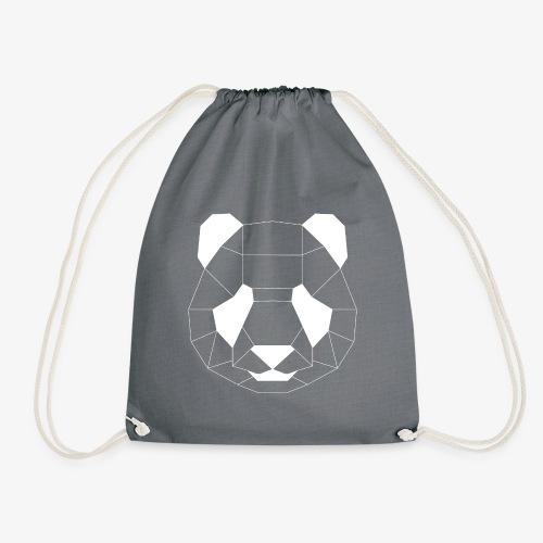 Panda Geometrisch weiss - Turnbeutel