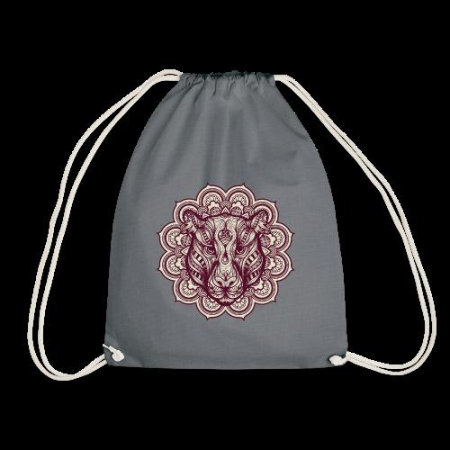 Mandala Tiger - Drawstring Bag