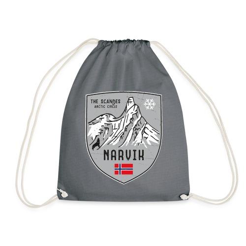 Narvik Norway coat of arms - Drawstring Bag