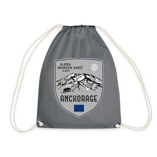 Alaska USA coat of arms - Drawstring Bag