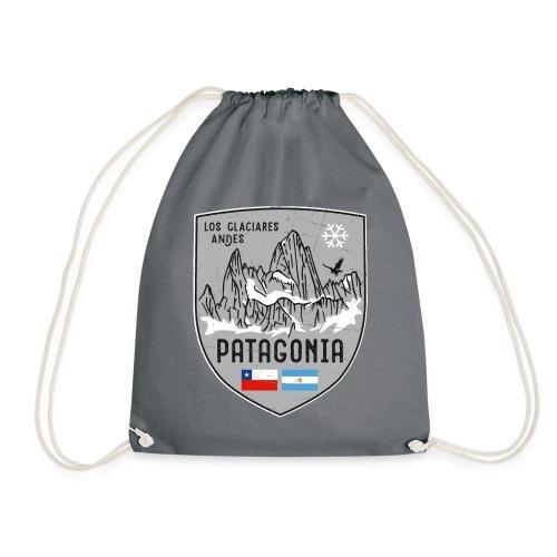 Fitzroy Patagonia coat of arms - Drawstring Bag
