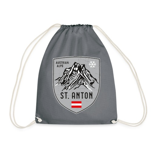 St. Anton Austria coat of arms - Drawstring Bag