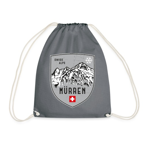 Murren Switzerland coat of arms - Drawstring Bag
