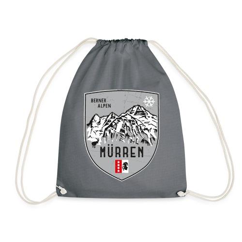 Eiger, Mönch und Jungfrau mit Mürren Flagge - Drawstring Bag
