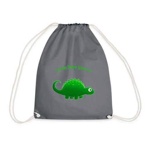 Green Little Baby Saurus - Drawstring Bag