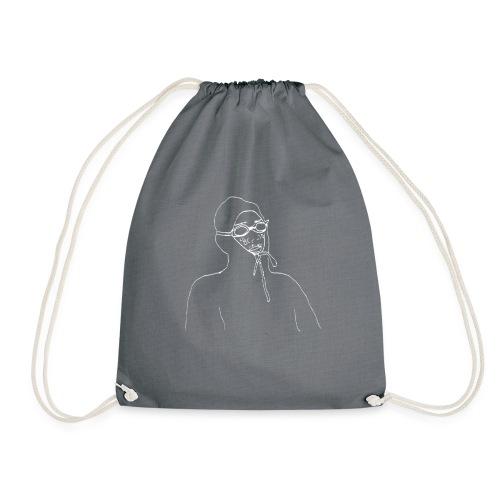 Lil D - Design 1 - White - Drawstring Bag