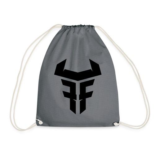 Fit Fight Bull Logo black small - Turnbeutel