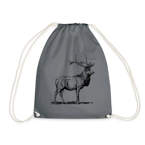 Silueta ciervo real transparente - Mochila saco