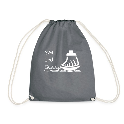 Sail and Sweep White - Drawstring Bag