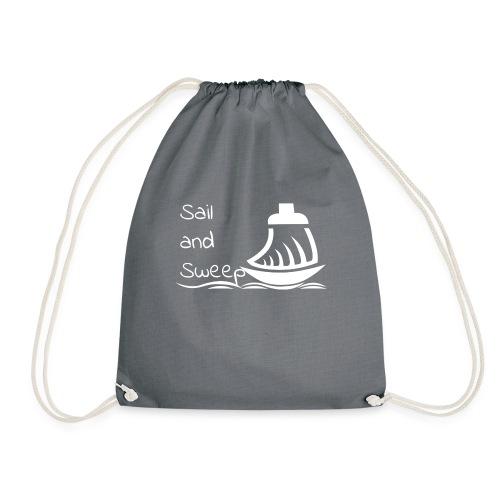 Sail and Sweep White - Drawstring Bag