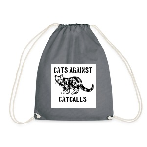 Cats against catcalls - Drawstring Bag