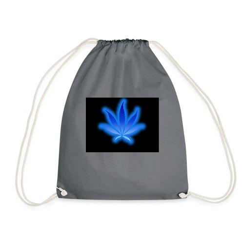 marijuana leaf blue 1 - Worek gimnastyczny