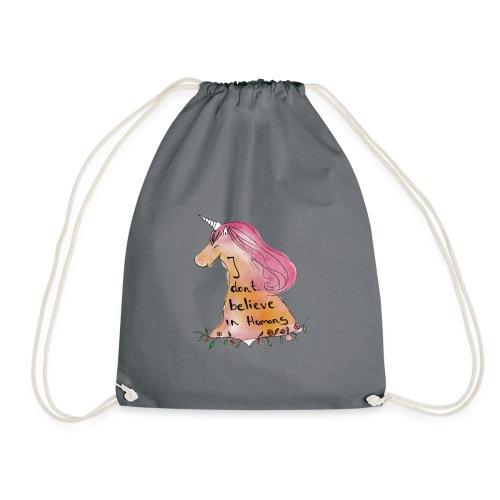 Funny unicorn design - Drawstring Bag