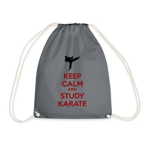 Keep Calm and Study Karate - Drawstring Bag