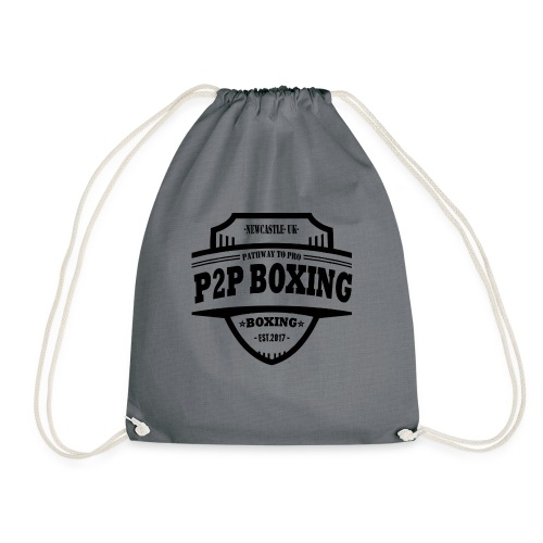 P2P Boxing Black Logo - Drawstring Bag