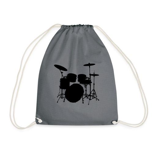 Drums in black - Mochila saco