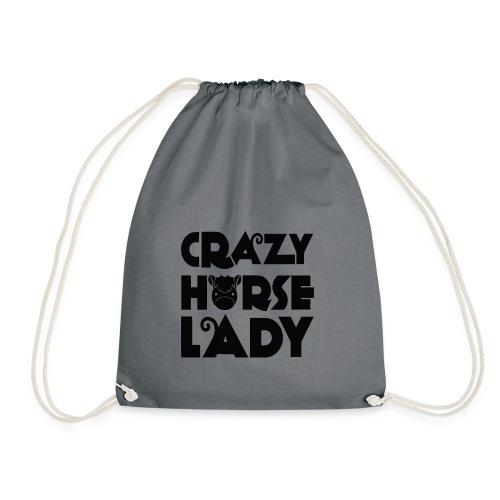 Crazy Horse Lady - Drawstring Bag