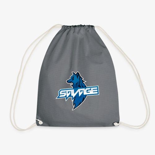 Blue Logo Savage Wolf - Drawstring Bag