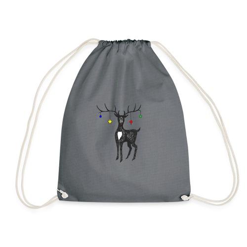 Christmas reindeer - Drawstring Bag