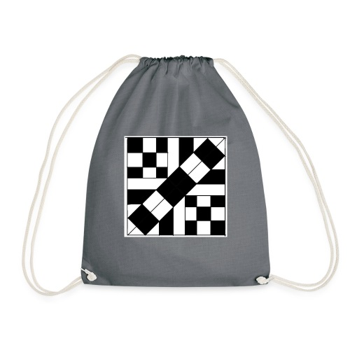 checker patterned art - Drawstring Bag