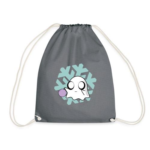 Christmas Winter Festive Kawaii Cute Ghost Bauble - Drawstring Bag