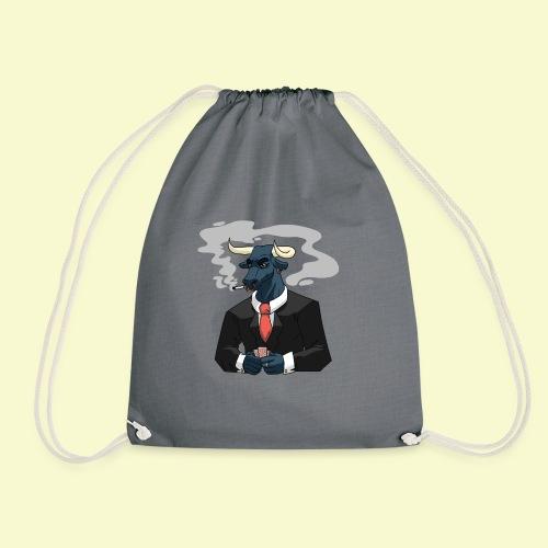 Bull Playing Poker - Drawstring Bag