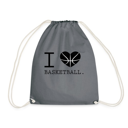 I love Basketball-Shirt T-Shirt Geschenk - Turnbeutel