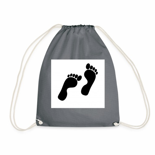 footprints - Drawstring Bag