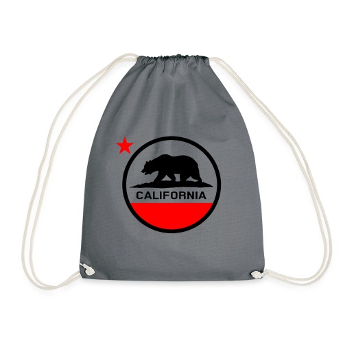 California Circle Flag - Drawstring Bag