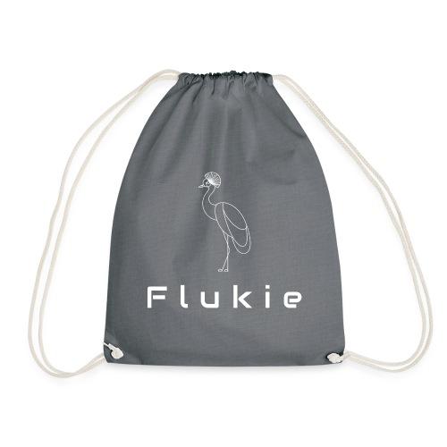 White on Transparent - Drawstring Bag