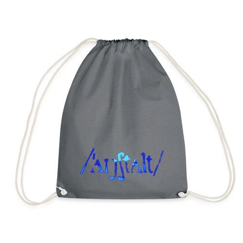 /'angstalt/ logo gerastert (blau/transparent) - Turnbeutel