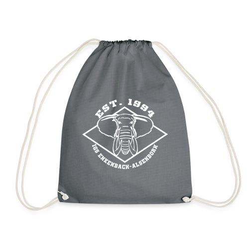 Elefant Logo weiss - Turnbeutel