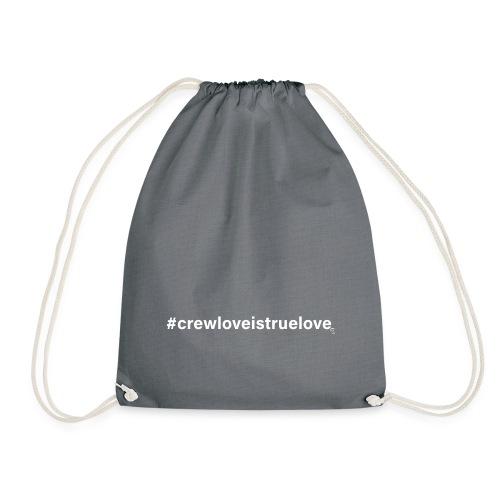 #crewloveistruelove white - Turnbeutel