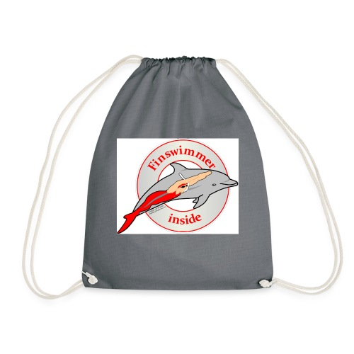 Logo für alle Freunde des Finswimming - Turnbeutel