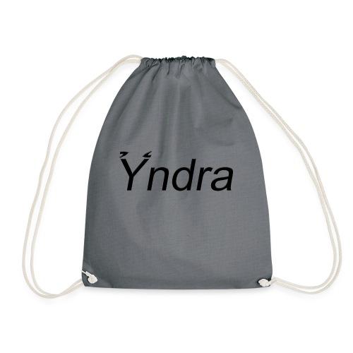Yndra-Logo´3´-Schwarz - Turnbeutel