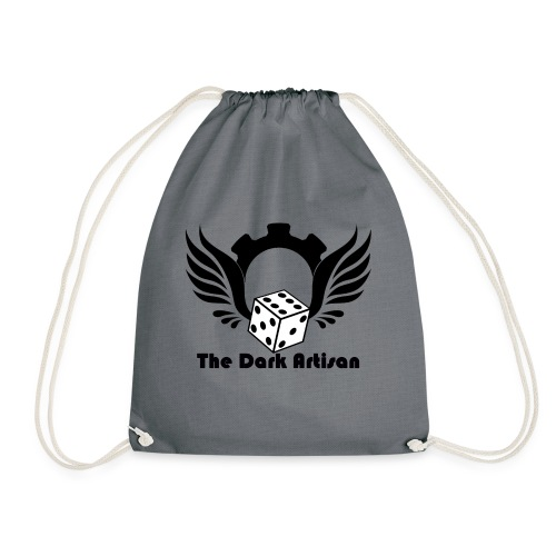 Black logo - Drawstring Bag