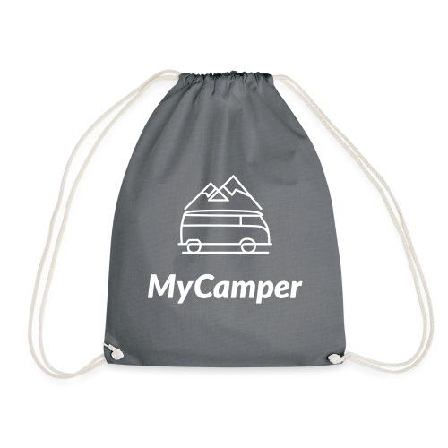 MyCamper Logo Weiss - Turnbeutel