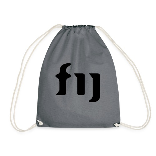 FIJ logo (svart) - Gymnastikpåse