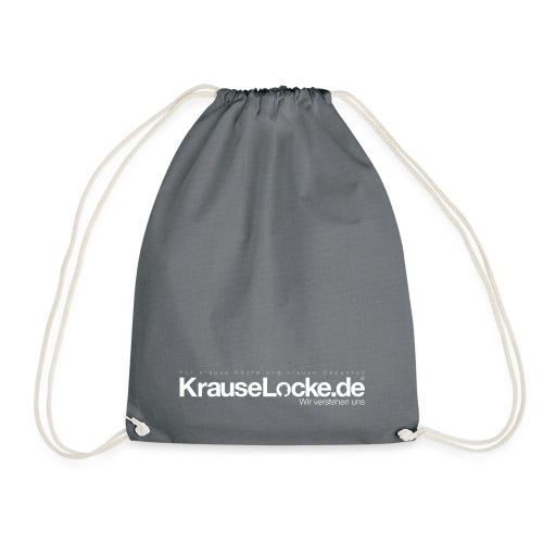 KrauseLocke Logo FINAL mit Claim weiss - Turnbeutel