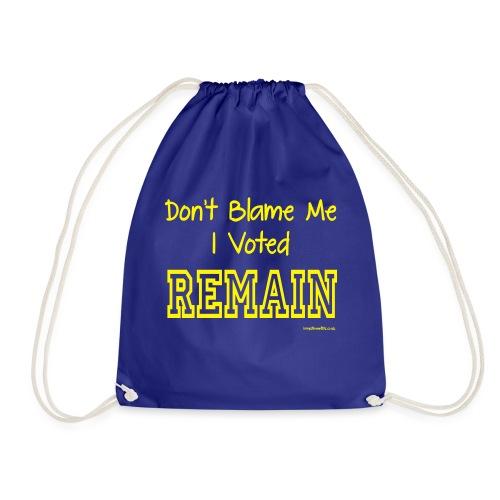 Dont Blame Me - Drawstring Bag