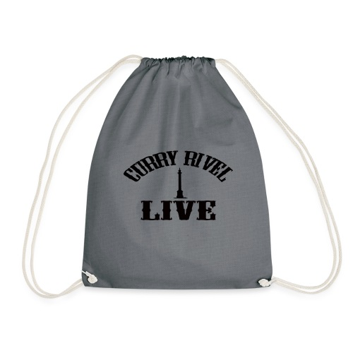Curry Rivel Live Logo - Drawstring Bag