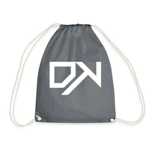 DewKee Logo Cap White - Drawstring Bag