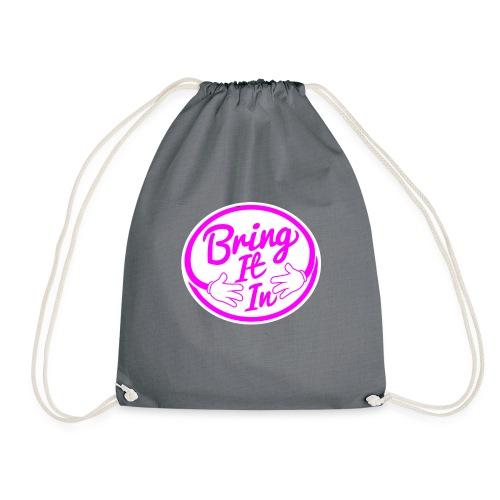 BII Pink font png - Drawstring Bag