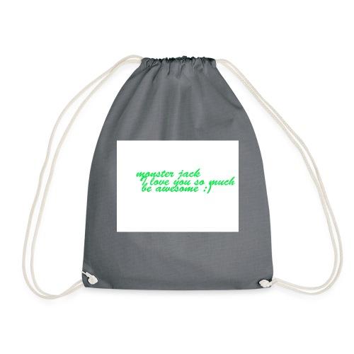 monster jack logo - Drawstring Bag
