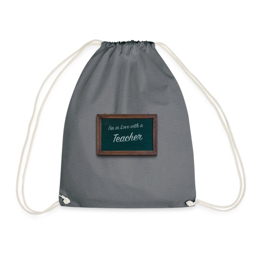 teacher valentine - Drawstring Bag