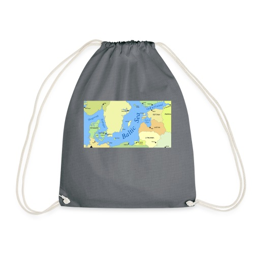 Baltic Sea Map - Drawstring Bag
