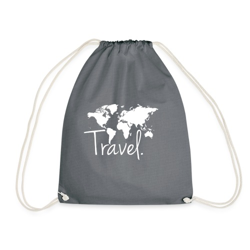 Travel. Weltkarte. - Turnbeutel